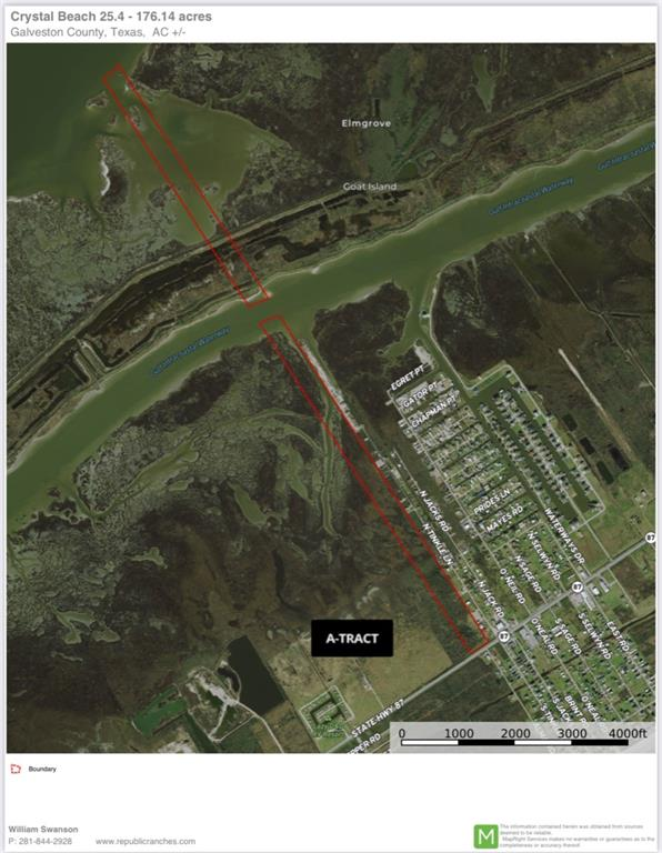 Two adjacent parcels totaling +56.5 acres. Approximately 319 feet of frontage on the north line of Highway 87. The tract runs from Highway 87 north, crossing the ICW and includes acreage on Goat Island or that is submerged. Approximately 11.6 acres along the highway are believed to be uplands. Neither Seller nor Broker are making any representations as to wetlands or jurisdictional classification of acreage—buyer must conduct their own due diligence. Estimated 2021 taxes $1,441.