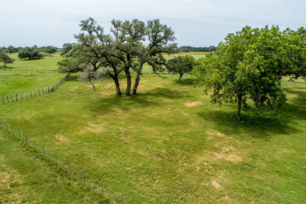 Originally built as a show goat facility, this property and improvements are easily transferrable to cattle, sheep or horses. The gorgeous, ag-exempt 38.5 acres are perfect for the weekend or full-time rancher. All the facilities necessary for holding several head are easily located on the edge of Cuero and close to the auction ring. Fertile soil, Coastal Bermuda pasture, mature live oak and pecan trees, wetlands area, small pond, Gohlke Creek. 4,500 sq. ft. covered pole barn with pens, 3,700 sf storage shed, 1,700 sf and 1,400 sf loafing sheds, and a small rustic house. Electricity, 2 water wells, and partial septic system. Approx. 38 acres are in the 100-year floodplain.  All owned minerals will convey. Agricultural tax valuation.
