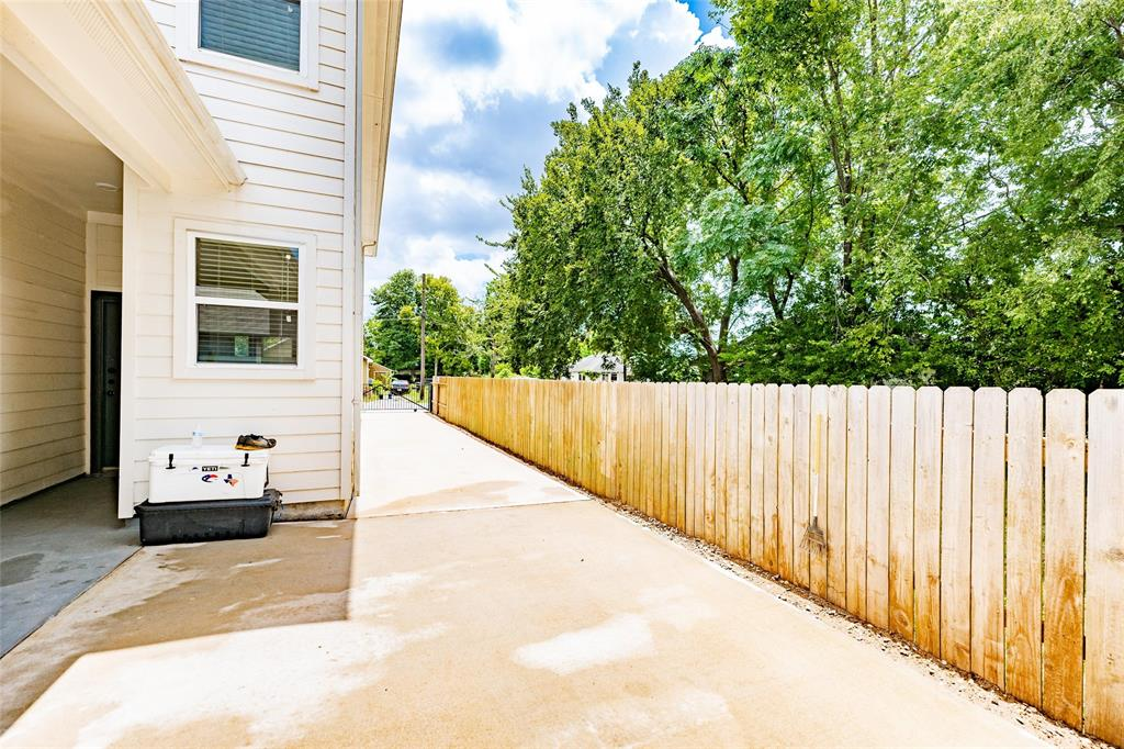 This home offers a private gated driveway.