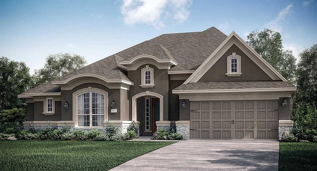 """Amazing NEW Village Builders Wentworth Series, ''Norwalk"""" Design with Brick/Stone/Stucco Elevation """"B'', located in Stunning Woodtrace! Marvelous single story home with 4 bedrooms, 3 baths and a 3 Car tandem Garage! This home has a welcoming front porch with a Handsome Study off of the foyer and an Open concept layout with a really large Family Room and Gorgeous Open Dining Room with a patio view. Gourmet Island Kitchen has 42"""" Cabinets & Great Appliance Pkg! Luxury Master Suite has Shower, Separate Tub and Huge W/I Closet with direct access to the laundry room. Beautiful Tile Flooring runs through Main Living Areas, baths & utility room. Handy Workshop Space in garage, Mud room, Covered rear patio. This home has so much to offer, you will not want to miss it!"""