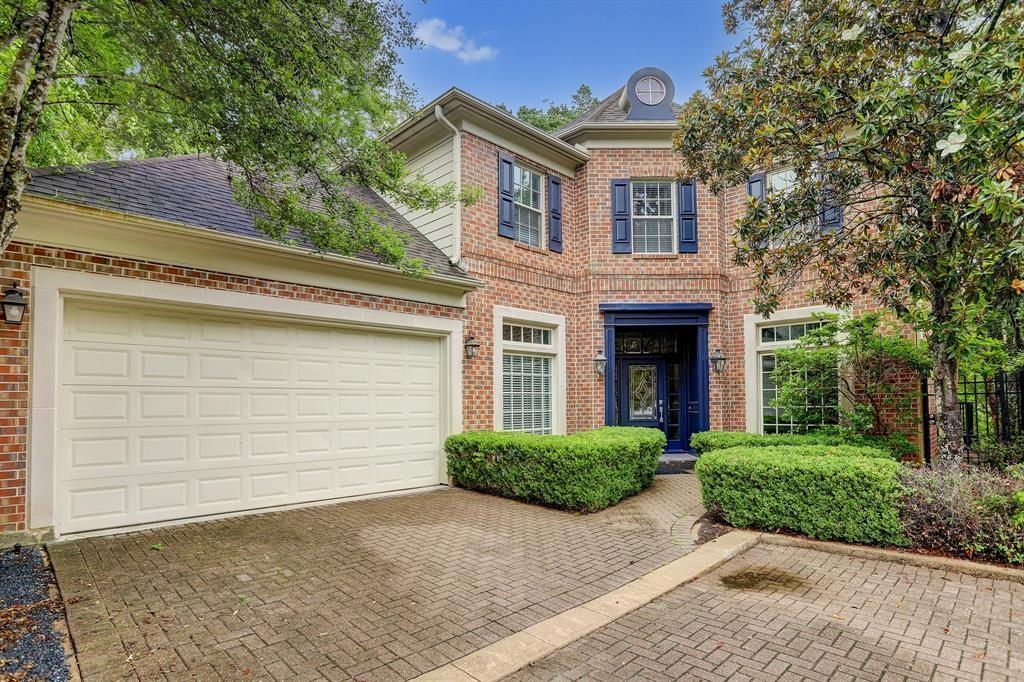 Beautiful French-Style home amongst the woods.  Rare opportunity to own a home in a gated and wooded community in a park-like setting right in the middle of HOUSTON and not be aware of it until you go looking for shopping, restaurants, movie theatres, grocery stores all within a three-mile radius.  Enjoy the amazing views from the first floor oversized patio which has entrances from the formal living room and formal dining room.  Spacious master suite also enjoys its own private balcony featuring the huge backyard leading to the bayou which has never flooded  and adjoining bathroom with a soaking whirlpool tub and separate shower, double sinks and vanity area.  The enormous walk-in closet is everyone's dream. Home is situated just inside the 610 Loop and close proximity to Uptown, the Galleria and Memorial Park.  Did I mention that it NEVER FLOODED.