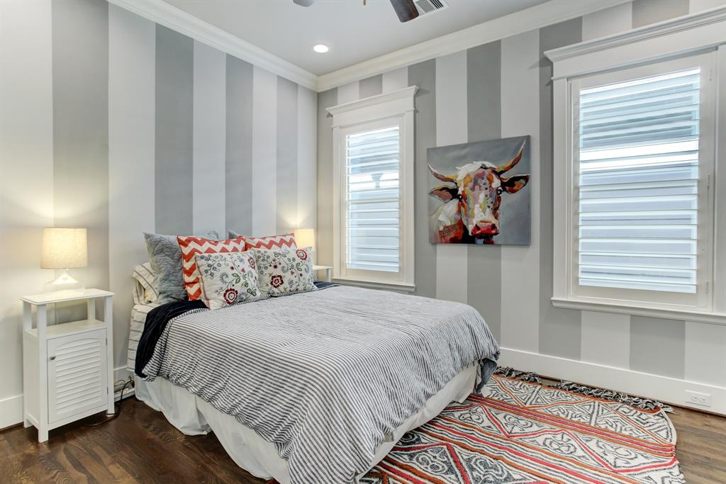 The third bedroom is currently set up with a queen bed, with room to spare. It also has a generous walk-in closet.