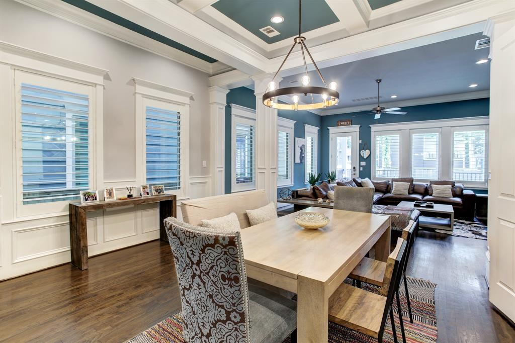 There are so many elegant touches in this home including the coffered ceiling in the dining area, certainly considered an upgrade.