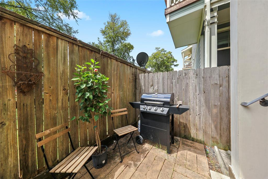 Enjoy grilling on your patio.