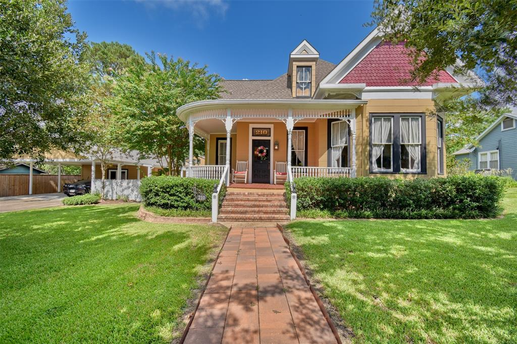 Located in the heart of Bellville one block off the Square, this 1910 Victorian sits on two large lots. Shiplap, original pine floors and high ceilings provide vintage farmhouse charm while granite countertops, stainless appliances and updated kitchen and baths give owners the modern amenities they desire. The two-story main house has 3 bedrooms and 2 baths with nooks, clever storage spaces and lots of built-ins.The detached office includes a large open space, a small sunroom, and a spacious bathroom and closet, perfect for entertaining, a kids' hangout, or guest quarters.The pretty two-story She-Shed has sleeping quarters upstairs and a sitting area, craft room or office downstairs.A massive deck connects these structures to a large outdoor entertaining space complete with two pergolas, a fully-equipped kitchen, pool and jacuzzi.The professionally-landscaped backyard has two raised garden beds, irrigation system and outdoor lighting.