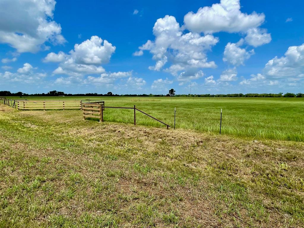 Beautiful country acreage! Hard to find 10.12 +/- acre tract in the highly desired area of Bellville Texas. Currently, Ag exempt with zero flood plain, the land is primarily open improved pastures, with new five-wire perimeter and cross fencing, with an additional 16-foot field gate and secondary utility gate off of Raccoon Bend Drive (this tracts entry drive scheduled for completion September 25th, entry drive photo of a neighboring tract with same build specifications). Electric and water are available along the approximate 595 feet of paved county road frontage on Raccoon Bend Road with easy and quick access to the HWY 159 corridor which will quickly get you anywhere you want to be for business, living or leisure.  Land conveys with light restrictions to secure the enjoyment of your country homestead for years to come.