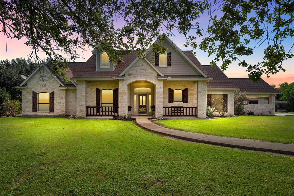 The WTHarris Ranch is uniquely situated in Fort Bend County within close proximity to Sugar Land, Houston, Brazos Bend State Park, & zoned to Needville ISD. It offers a rare combination of recreational enjoyment, superb cattle grazing, & hunting opportunities. Situated on 70+/-acres of open & wooded land this ranch is ideal for individuals wanting to get away from the city yet remain close enough to enjoy the luxuries it provides. The thick wooded terrain throughout the ranch provides plentiful cover & sanctuary areas for wildlife to thrive. There is cross fenced pastures within the perimeter fence, cattle pens, stocked pond, hay production, & 60x40 metal framed workshop.  The aesthetically pleasing 3 bed/3 bath home is well appointed w/details such as gleaming wood floors, tile floors, stainless appliances, granite counters & rated as an Energy Star Home. Plus it is equipped w/a GENERAC whole house generator. The floor plan is open, bright, spacious & has TEXAS sized amazing views!!