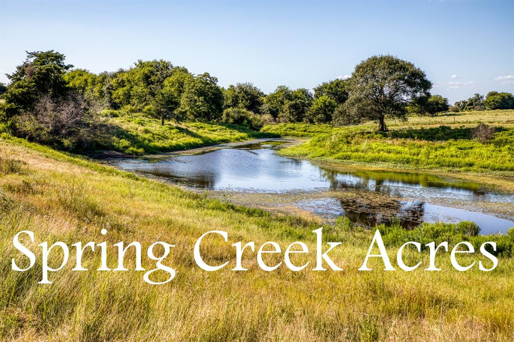 This 11.46 acres is tucked off the road and has an excellent build site overlooking the land, views, and pond below. The property is currently ag exempt and is ready for someone who is looking to build their dream home.  Spring Creek Acres is fully in the country, but under 8 mins back to town. Easy to access and tons of possiblities.  Call to see this one today!