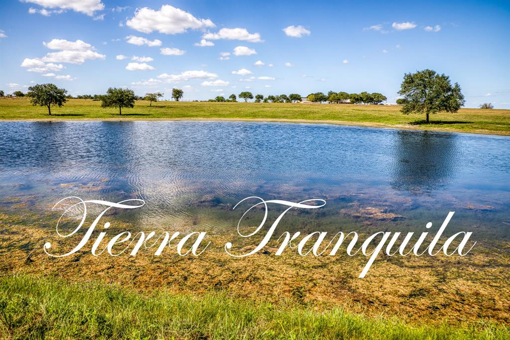 Own a piece of heaven! 2 Minutes off of La Bahia Trail(Fm390), this property has absolutely stunning views! This 33+- acre tract is truly exceptional. From the moment you enter the property you are welcomed by the large lake loaded with bass. Meander to the back hill/homesite and take in the clear 25 mile views toward Texas A&M. Homesite is tucked in a beautiful, mature live oak grove offering privacy and the peace and quiet you are searching for.  If miles long views, beautiful oaks and water at the top of our list, you need to come see this one!  Property accessed by private easement road meaning no traffic sight or noise. Acreage size is approximate and subject to survey.