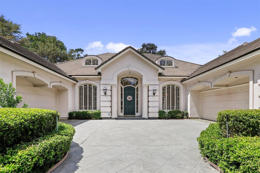 Stunning Mediterranean-style home in golf course community!  Located in the fantastic Forest Country Club & Golf Course Community, this beautiful home has great curb appeal and tons of upgrades! Home features an open concept floor plan with high ceilings and offers a formal dining room with a gorgeous chandelier, a formal living room with tray ceilings and custom lighting, and a gourmet kitchen with a huge granite island, tons of storage, custom cabinets, and top of the line appliances. Home boasts high-end marble flooring, custom built-ins, plantation shutters, and walls of windows in the family room, kitchen, living room, and primary bedroom that welcome an abundance of natural light. Spacious first-floor primary and secondary bedrooms with en-suite bathrooms, and 2 additional generous-sized bedrooms, and a game room on the 2nd floor.  Meticulously maintained & ready for you to call home!