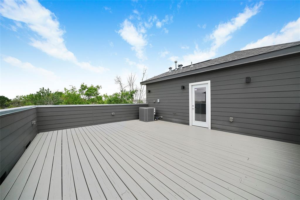 This large rooftop deck provides a great space to grill or relax in the evenings.
