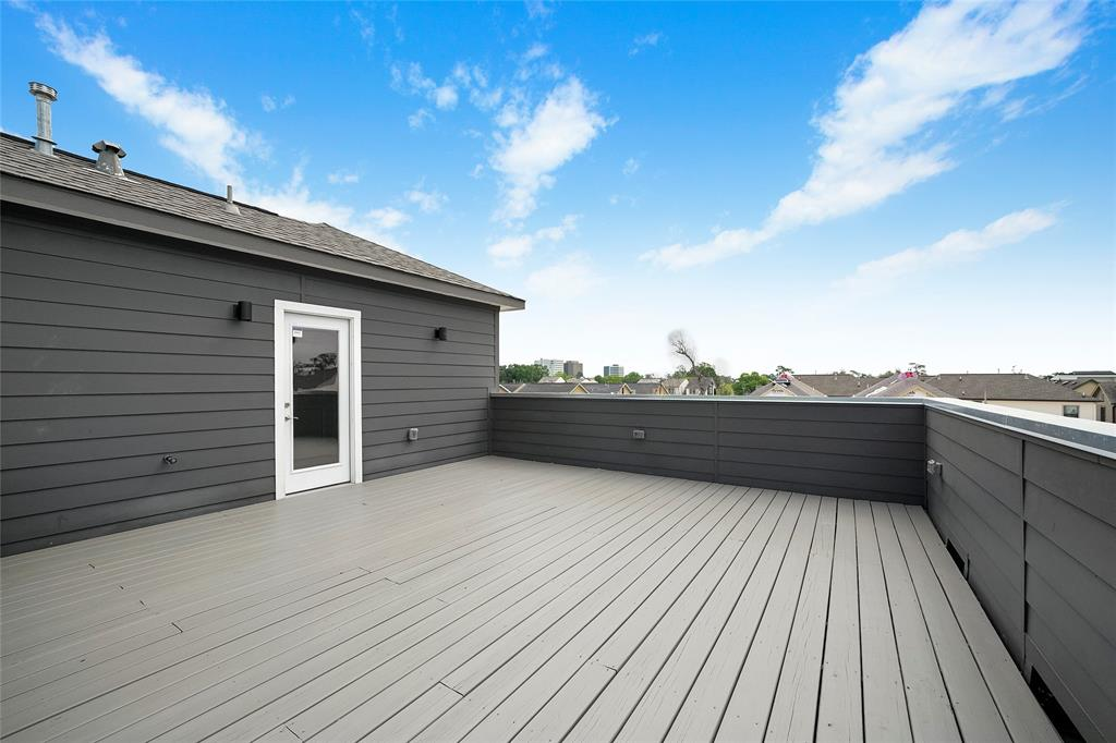 Another view of the spacious rooftop deck.