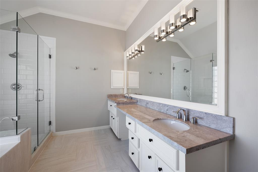In addition to the other 2 bathrooms, the Primary Bathroom was updated in 2017 with new granite countertops, tile floors, fixtures and lights.