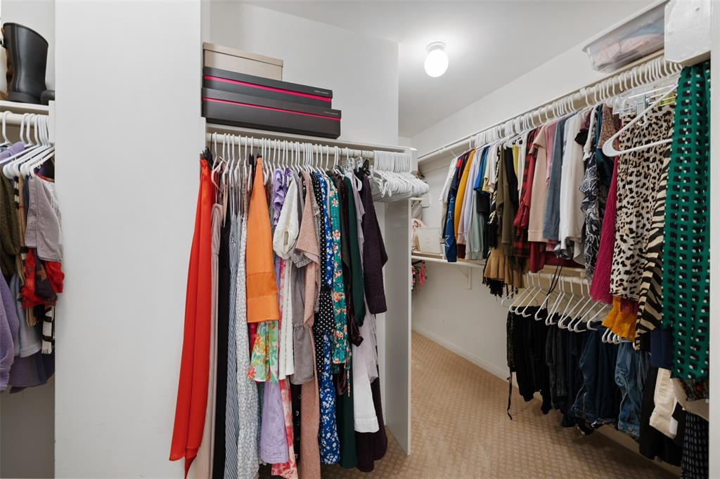 A closet so big it couldn't all fit in one picture - even after 8 years this owner could not fill all of the rack space