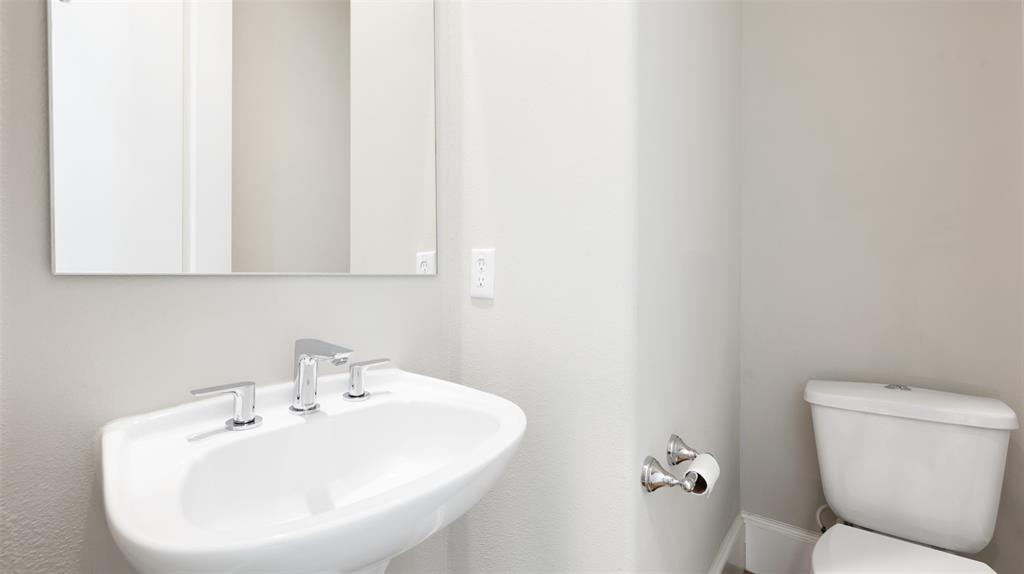 This half bathroom is conveniently located on the main living floor.