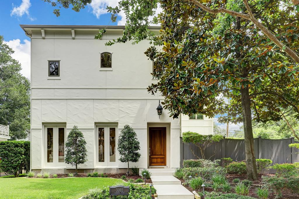 Welcome to 3002 Albans! This elegant home on a picturesque corner lot in the coveted Monticello neighborhood. Stroll up the custom slate walkway to the striking Mahogany door and gas lantern.