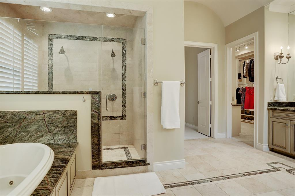 Each bedroom has excellent walk-in closet space and built-in dresser storage.