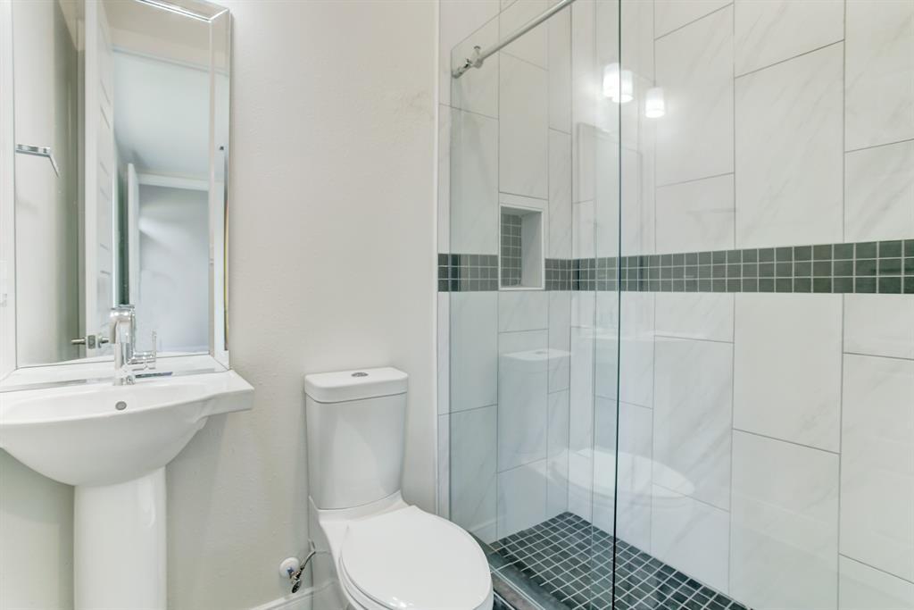 First floor bathroom right off first floor room