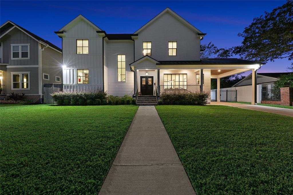 This gorgeous 2018 built home is located on a quiet street in Meyerland and is the true definition of luxury.  With 3,629 sqft. of modern finish living space not including the unfinished garage apartment, it is simply immaculate and will please the choosiest of buyers.  The lovely home features beautiful French Oak Engineered Hardwood floors, breathtaking island kitchen w/quartz counters and Viking stainless-steel appliances, open concept great room, full size washer/dryer upstairs and down, custom sliding barn doors, remote access private gate, and so much more (see picture description for more details).  The backyard oasis highlights a 2018 pool and spa that is not only stunning but is fully integrated and utilizes ScreenLogic automation w/remote control for lights, chiller, heater...etc.  Walk/Bike distance to Lovett Elementary and zoned to Bellaire High make this a perfect home.  Just minutes to 610, restaurants, shopping and groceries, this home exudes convenience.