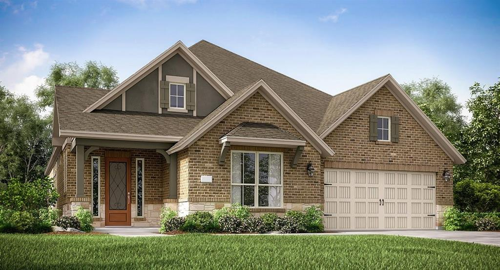 """NEW Village Builders, Cambridge Collection, ''Northborough'' Plan with Brick & Stone Elevation """"B""""- Gorgeous 1 Story Home with 4 Beds/3 Baths/2 Car Garage. Lovely, Open Casual Dining Room and Generous Family Room.  Beautiful Gourmet Island Kitchen with 42'' Cabinets, Sparkling Countertops & Backsplash, plus a Great Appliance Pkg! Luxurious Master Suite with Corner Garden Tub, Separate Shower & Dual Walk-in Closets. Extensive and Stunning Tile Flooring! Covered Rear Patio, Storage Space in Garage, Energy Efficient 16 SEER HVAC System & much MORE!"""