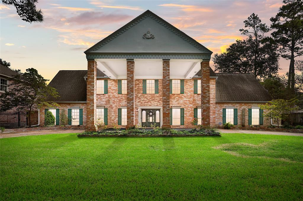 Lovely describes this Magnificent 5 BDRM 3.5 BATH home nestled in the heart of the distinctive Champions Forest subdivision & Zoned to the award winning Klein Independent School District!!! This impressive home features a private gated entrance, and lovely circular driveway with Porte-cochere. You are sure to love this warm space featuring a lovely wrought iron curved staircase, dental crown molding, stately formal dining room, wet bar, formal sitting room, and spacious living room with cozy fireplace. Escape into the backyard oasis featuring a glistening pool and spa. This home also features an Executive Primary Bedroom with lovely sitting area & fabulous jacuzzi bath, large game room, and exquisite curb appeal. Enjoy being  just minutes from 249, beltway 8, & the vintage. Property is just a short walk from shopping, schools & some of the best trails & parks in the area! Schedule your showing today!
