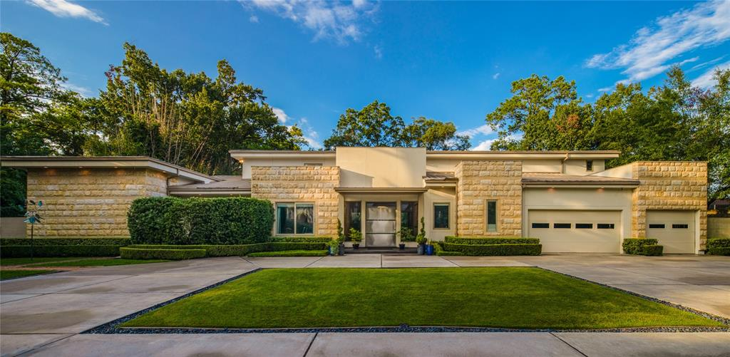 Spectacular, modern masterpiece, located at the end of a cul de sac street in close-in Memorial and patrolled by Templar Private Security. The home is impeccably designed & built by the owner of MW Design & Construction for his own family. The meticulous attention to detail is apparent with an emphasis on best LEED construction practices. An abundance of unique & quality features include: Jerusalem stone exterior- Chlorine free pool & spa- 24 ft ceilings in living area- Fleetwood wall of sliding doors- speaker system inside & out- Poggenpohl cabinets- top of the line appliances- quartz and granite counters- Butler's Kitchen- Formal & Informal dining rooms- high efficient hybrid insulation- 3 Lennox HVAC units- 7 programmable zones- 2 tankless water heaters. There is a 70 foot lap pool plus spa. This home must be seen to appreciate!