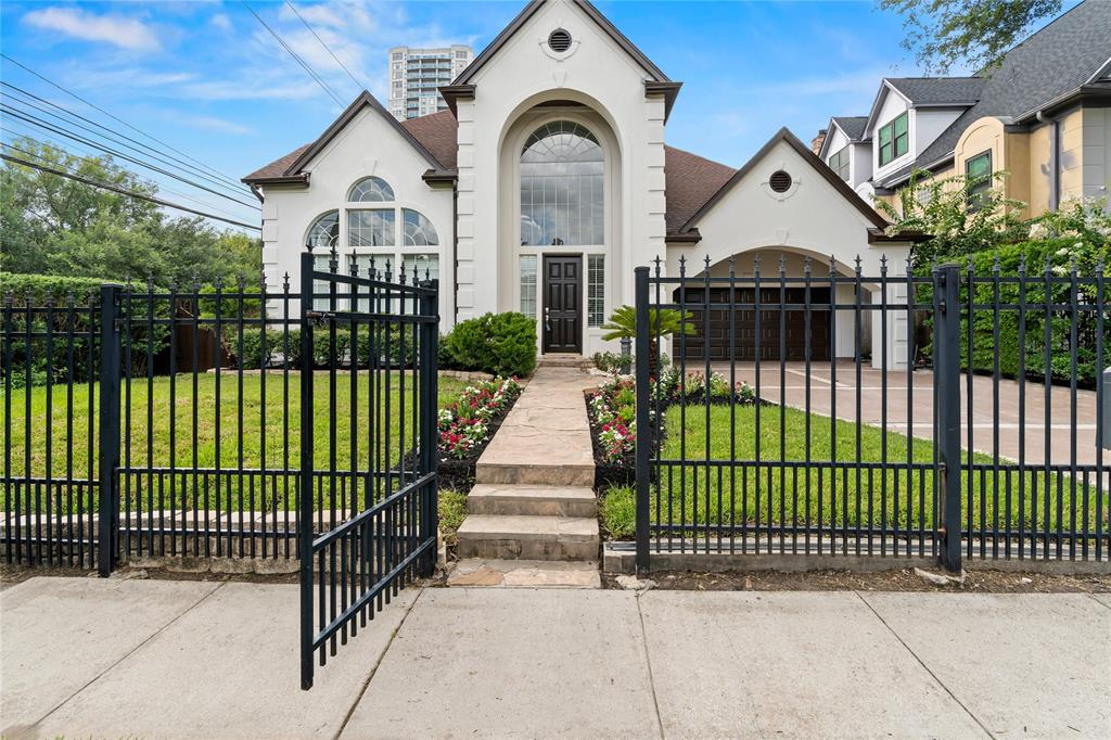 NO HOA. This beautiful home is located conveniently in the Galleria area of Houston. Grand entry with amazing curved, iron staircase.A lovely backyard retreat featuring a cocktail pool & hot tub. Hardwood floors, crown molding, New custom kitchen cabinets, walk-in pantry, and separate breakfast area create the quality lifestyle you want! The home features 4 bedrooms, a study, and a game room.SHow case home, towering ceilings, with an open floor plan. Primary bedroom on the first floor with massive en suite.second bedroom on the first floor with soaring ceilings and walls of windows.2 bedrooms, bath, game room,and study upstairs. recent updates include roof, refinished floors, kitchen cabinets, appliances, frameless shower,Large kitchen island, lightings, all the showers, Bathroom vanities, New floor tile in the bathrooms,New Toilets,New shower head, New water heater, New A/C units, Marble countertops throughout the house,New media center,freshly painted gutters,garage, throughout house
