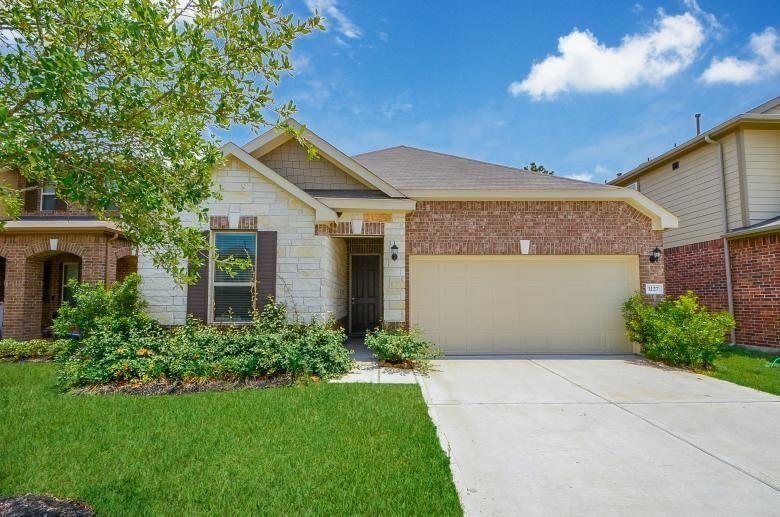 Beautiful newer large 4 bedroom, 3 full bath home in the Cayden Creek subdivision only minutes from The Woodlands mall and Lake Conroe and easy access to I- 45.  Open floor plan with a beautiful large kitchen, featuring stainless steel appliances , high cabinets, granite countertops with huge breakfast bar/island. LG FRIDGE, LG WASHER and DRYER all included in your lease!! Bathrooms all have beautiful tiled showers in neutral grey undertones.   Home features energy star appliances and high efficiency HVAC for this Texas heat! Covered patio in the backyard great for enjoying nature. Come make this beautiful home yours before it's gone!!