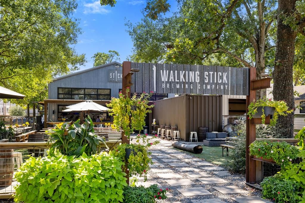 You'll also find watering holes like Walking Stick Brewing Company, which is located just 3 blocks away. This place has a beautiful outdoor patio.