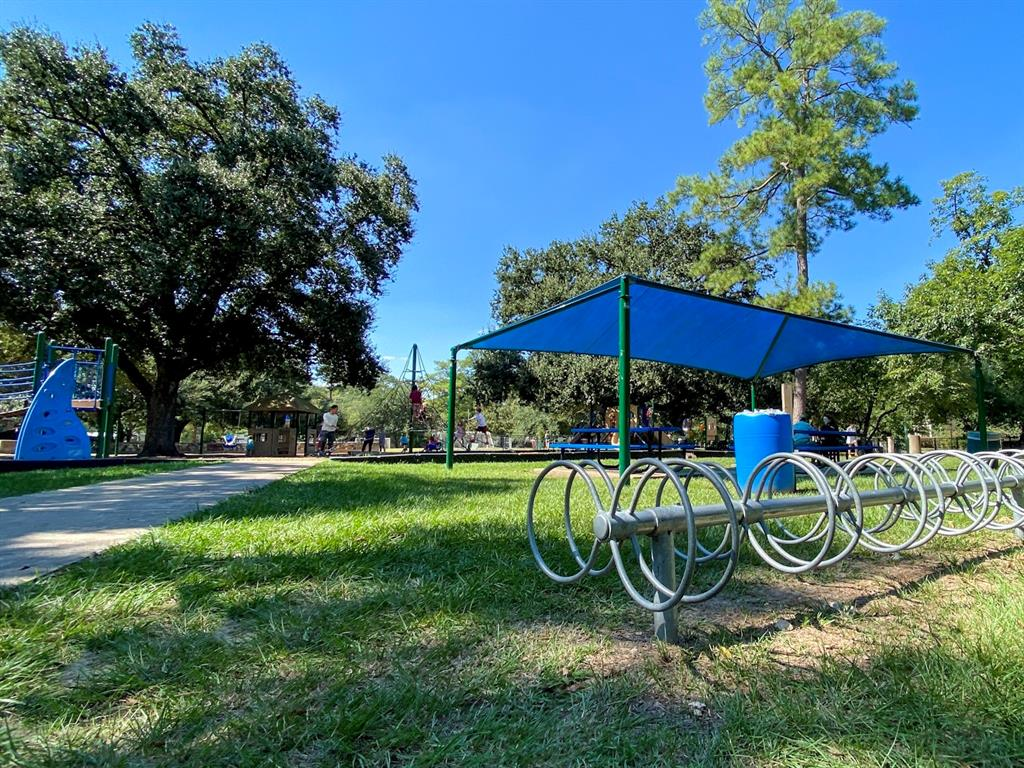 You will also find great outdoor spaces, like this Garden Oaks Spark Park.