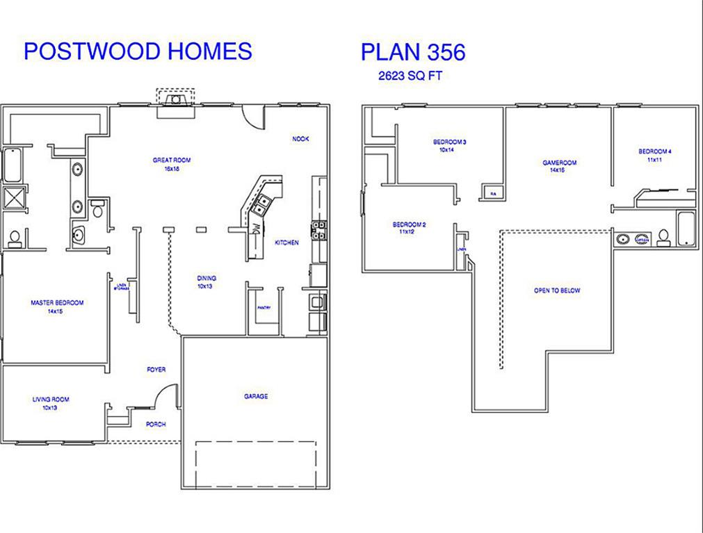 4242 Echo Clearing Humble TX 77346 HAR – Postwood Homes Floor Plans