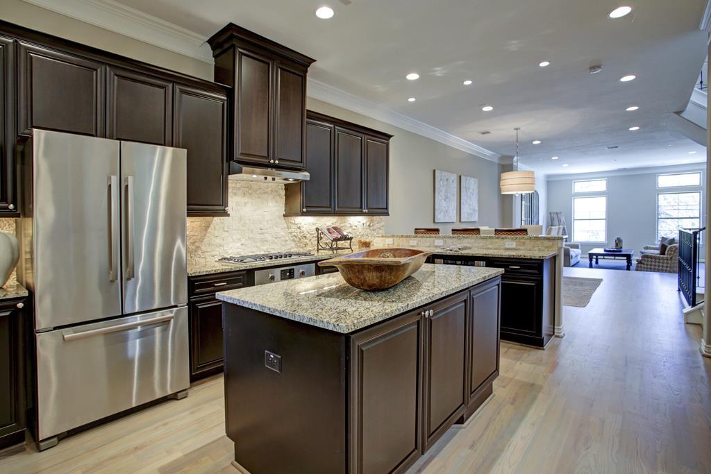 2412 Hazard Street, Houston, TX 77019 Gourmet Kitchen Boasts Island And Woodmont  Cabinetry ...
