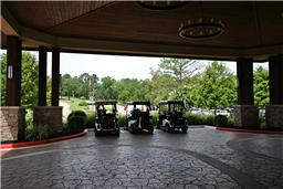 Drive to the clubhouse in your golf cart to enjoy lunch